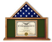 Army Flag and Certificate Case, Army Flag and Certificate Display Case