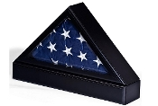 Flag Case With Base For Tabletop Or Wall Mounting - Black