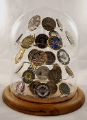 challenge coin display stand, challenge coin display, Glass Dome Coin Display