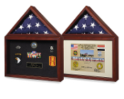Flag plus certificate display case